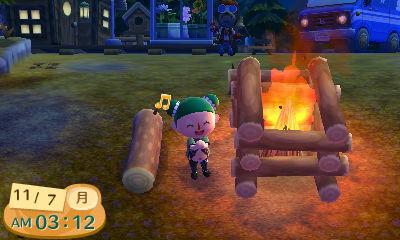 『とびだせ どうぶつの森 amiibo+』キャンプファイアー